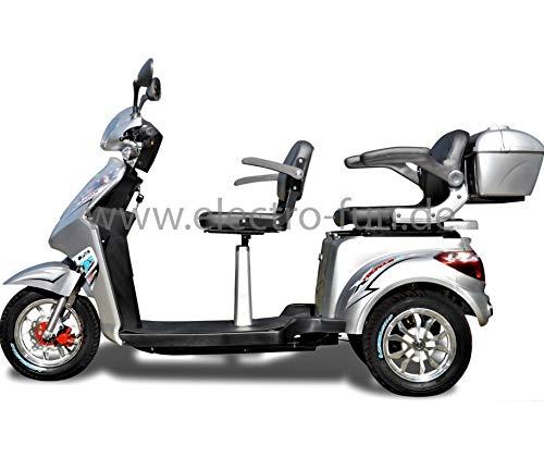 Elektromobil ECO Engel 503 Silber, 1000 Watt, 25 km/h, Seniorenmobil 2 Sitzer mit Straßenzulassung E-Scooter E-Roller