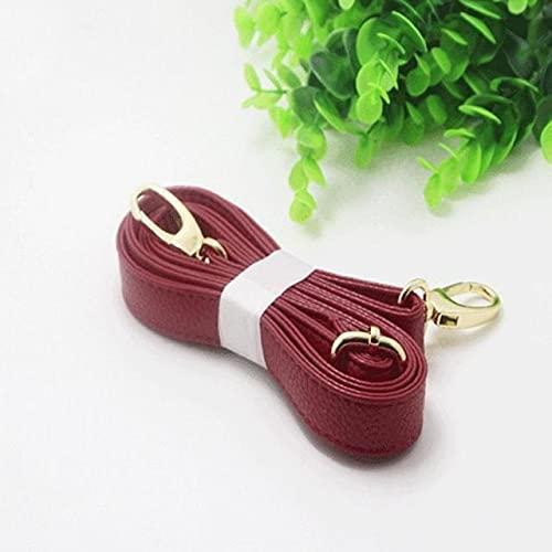 XKMY Correa para bolso de mano, cinturones, accesorios para cinturones y cinturones, 140 cm de largo, correa de piel sintética, asa de 6 colores (color vino tinto)