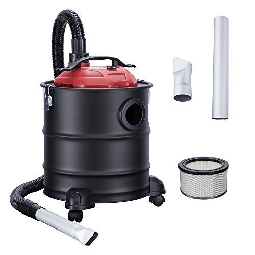Arebos Aschesauger / 20L Auffangbehälter/ 1200W / inkl. HEPA Filter/Flexibler Saugschlauch