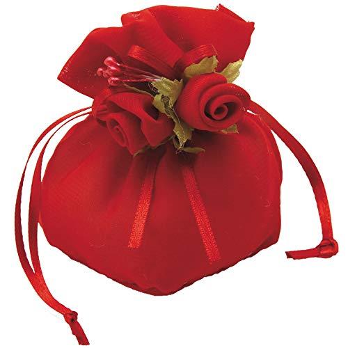 STEFANAZZI 20 Pezzi bomboniere Matrimonio Laurea Compleanno Nascita cresima Comunione Set Decorazioni con Ovatta e bustine Trasparenti Porta Confetti Gioielli Confetti