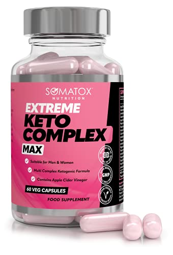 SOMATOXTM RASPBERRY KETONE Whole Fruit ★ Max Strength Weight Loss Formula / 60 Vegetarian Caps 30 Day Supply ★ UK & GMP Certified