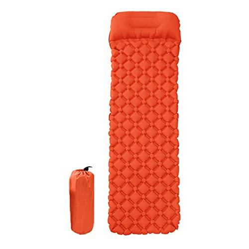 KJGHJ Cojín inflable a prueba de humedad de poliuretano termoplástico ligero con almohada de doble acción (color rojo)