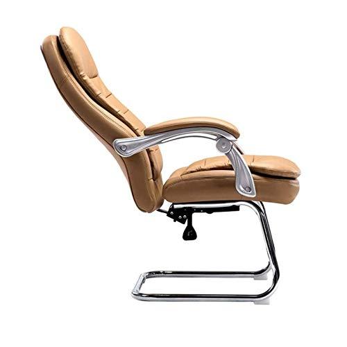 Ergonomische stoel Bureaustoel Computerstoel met hoge rug Ergonomische bureaustoel, PU-leer In hoogte verstelbaar Moderne stoel met gevoerde armleuningen en lendensteun