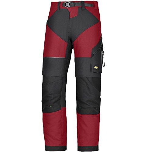 Snickers Workwear FlexiWork Pantalones de Trabajo, Hombre, Rojo (Chili RedBlack), 46