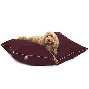 28×35 Burgundy Super Value Pet Dog Bed By Majestic