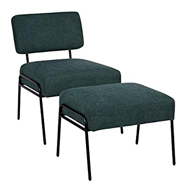 Ball & Cast Living Room Upholstered Accent Chair,Ottoman Set Teal Set of 1