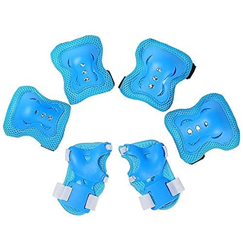 YMOMY 6 Piezas Transpirable Y Resistente Rodilla Universal Niños Coderas Almohadillas De La Muñeca Guardia Equipo De Protección del Patinaje Deportes Seguridad Protección Deportes Al Aire Libre