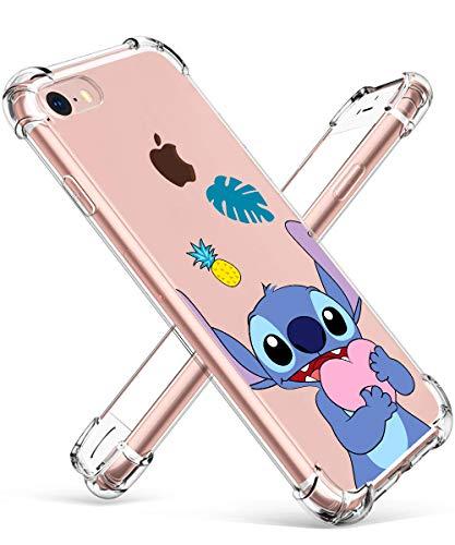 Darnew Love Stitch Custodia per ipod Touch 567 Casi, Cartone Animato Carino Morbido TPU Freddo Divertimento Divertente Cover per Bambini Ragazze Donne Protettivo Custodia per ipod Touch 567
