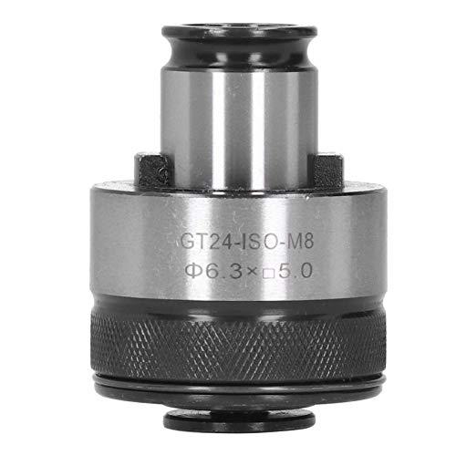 ZHFF Portabrocas M8 para Brocas, portabrocas GT24-ISO-M8, vástago Redondo de 6,3 mm con Extremo Cuadrado de 5 mm, portabrocas HSS para Herramientas de taladradoras