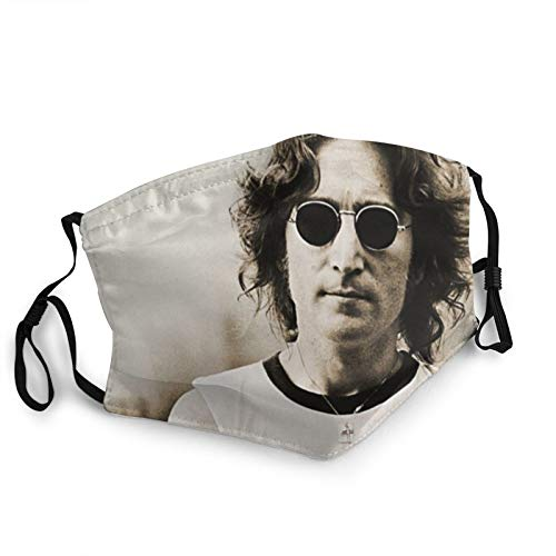 John Lennon Washable Breathable Multi Usage Face Mask Reusable Dustproof Mouth Mask Black