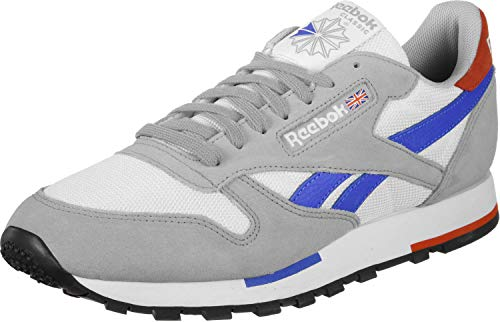 Reebok Sneaker CL Leather MU CN7036 Mehrfarbig White Gry Cobalt Organge Blk, Schuhgröße:45