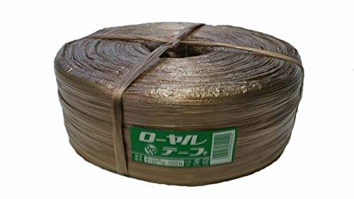 紐 なわ 結束 ブラウンカラーPPテープ100mm×1000m (茶色)10巻まで同梱可