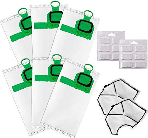 Bolsas para Vorwerk Folletto VK140 VK150 (6 bolsas + 2 filtros + 12 ambientadores)