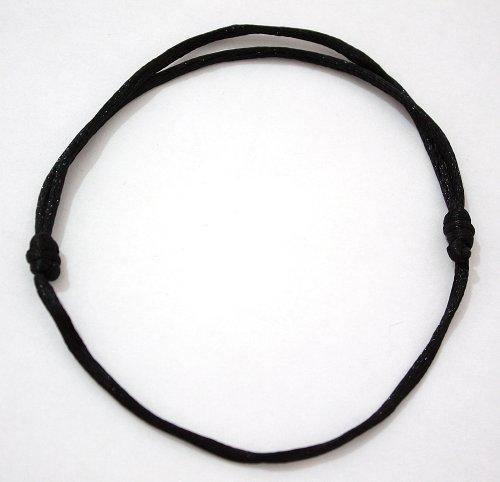 Bracelets de Kabbale Kabbala-Armband (verstellbares Seil Armband/Böses Auge/Hand, Schwarz