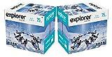 EXPLORER - Papel blanco multiusos para impresora - A4 75gr - 10 paquetes - 5000 folios