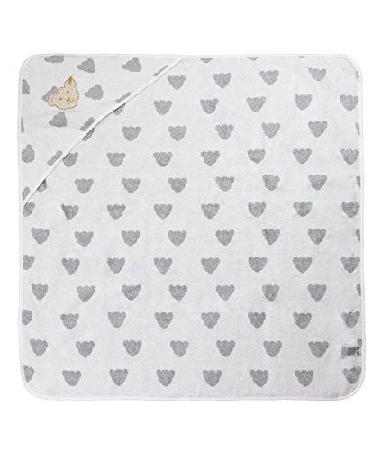 Steiff éponge drap de bain avec capuche - Gris - Taille Unique