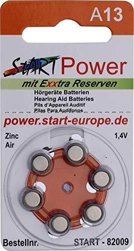 StartPower - 60 Batterien für Hörgeräte - Typ A13-1.4V - 280mAh - PR48