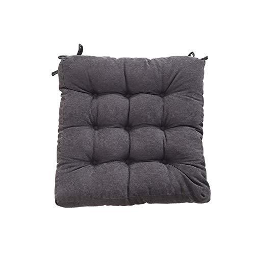 WANY Seat voor stoelen, vierkant, verdikte stoelkussens, eenkleurig, voor tuin, pluizig vloerkussen buiten, gewatteerd kussen, eenvoudige zitgelegenheid, 48 x 48 cm