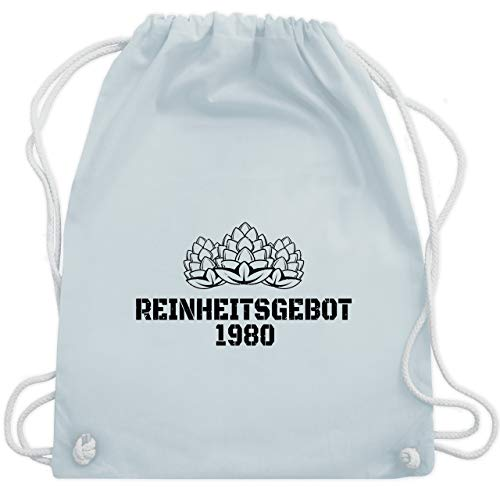 Shirtracer Geburtstag - Reinheitsgebot 1980 - schwarz - Unisize - Pastell Blau - Bier - WM110 - Turnbeutel und Stoffbeutel aus Baumwolle