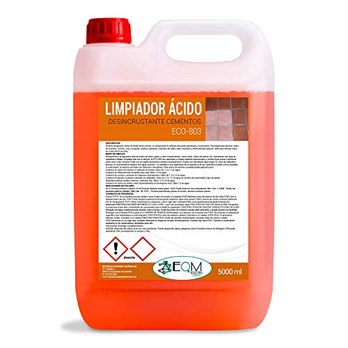Quitacementos 5 L | Limpiador Suelos, Desincrustante ácido | Ecosoluciones Químicas ECO-803