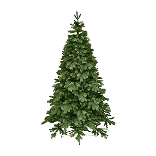 XONE Albero di Natale Edward 210cm - Folto, Effetto Real Touch PVC + PE