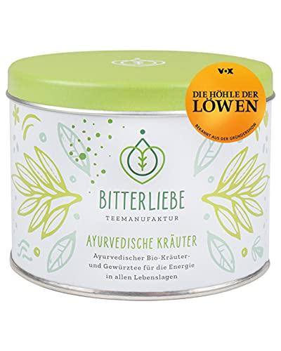BitterLiebe® Teemanufaktur Ayurvedische Kräuter Bio Kräutertee lose mit der Kraft der Bitterstoffe I Bitterkräuter, Zitronengras, Fenchel uvm. I ca. 35 Tassen (120g)