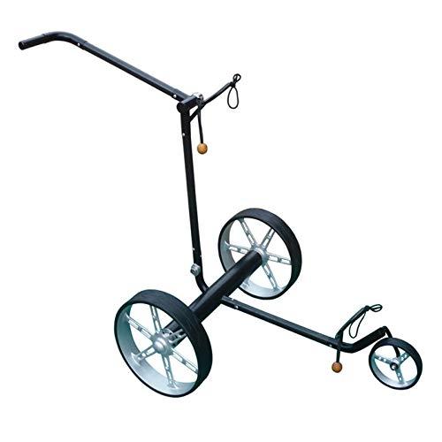 LY Elektro-Golfcarts Stahl-Golftrolley Golfwagen Golfcaddy Zusammenklappbar with Anzeigetafel, Regenschirmrohr,Getränkehalter, Handyhalter, Black 52610