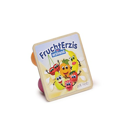 Erzi FruchtErzis, Spielzeug-Fruchtjoghurt, Holz-Fruchtjoghurt, Kaufladenzubehör, 1 Stück