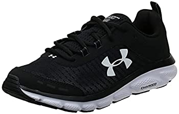 Under Armour mens Charged Assert 8 Running Shoe Black/White 10 US