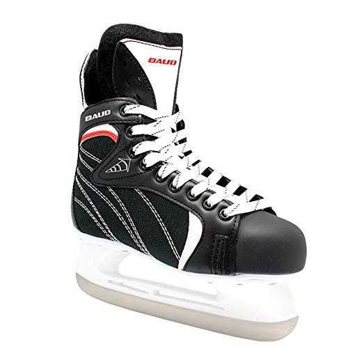 Yuzhijie Kinder Hockeyschuhe Profi Skateschuhe Jugend Training Skates Real Ice Speed Skating Schuhe, 35