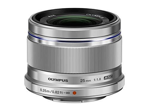 Olympus M.Zuiko Digital 25mm F1.8 Objektiv, lichtstarke Festbrennweite, geeignet für alle MFT-Kameras (Olympus OM-D & PEN Modelle, Panasonic G-Serie), silber