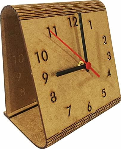 Relógio Analógico Flexível para mesa - MDF 18x16cm