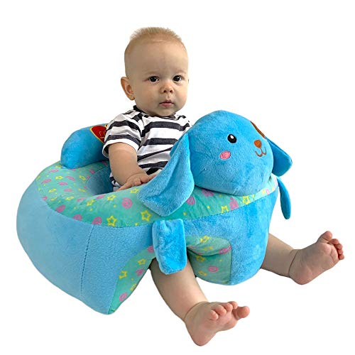 Baby Sofa Infant Support Seat Learning Sitting Chairs for Babies Bouncer Soft Elephant Plush Floor Seats Suitable for Play Infants Tummy Time Blue Dog