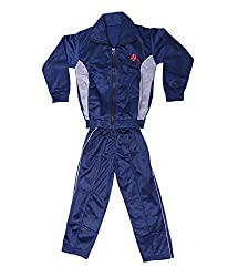 Indistar Boys 2 Piece Zip Up Track Jacket and Pant for Winters Blue