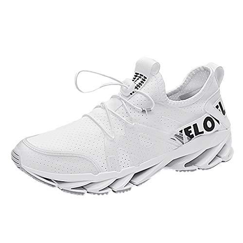 JiaMeng Zapatillas Deporte Hombres Running Zapatos para Transpirables Casual Deportivos Gimnasio Correr Sneakers