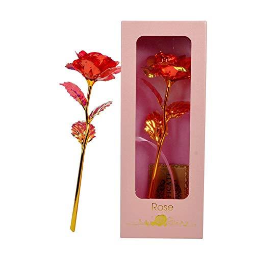 Gold Rose - Cadena de luces LED con diseño de flor rosa...