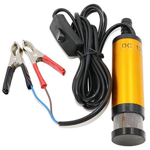 IWDF Tragbare Mini 12V 24V DC elektrische Tauchpumpe for das Pumpen von Diesel Öl-Wasser-Aluminium-Legierung Shell 12L / min Kraftstoffförderpumpe (Voltage : 12V)