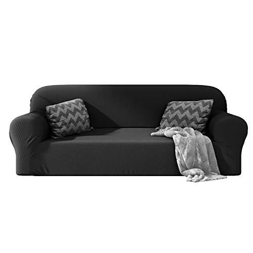 Dreamzie - Sofabezug 3 Sitzer Elastische - Grau - Oeko-TEX® - Sofa Überzug 60{e06a35a777461d51c80b1855a41baada7cec52f85fb73715a971bbceb6a4a534} Recycelter Baumwolle - Made in Europe