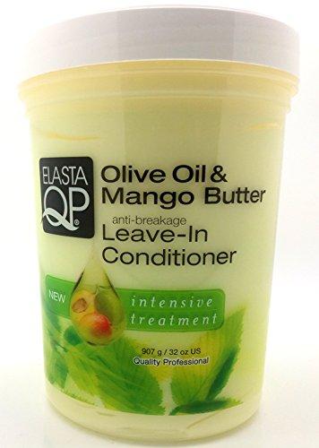 Elasta QP Olive Oil & Mango Butter Leave-In Conditioner, 32oz