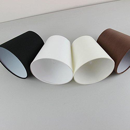 WNAVX Lámparas Modernas de Estilo Minimalista para lámpara de araña, lámpara de Pared o Luces Colgantes Lámpara de luz, Clip en (Body Color : Black)