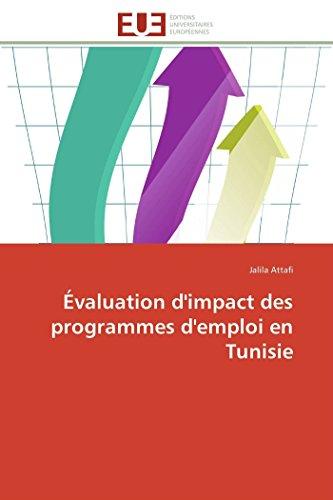 Évaluation d'impact des programmes d'emploi en Tunisie (Omn.Univ.Europ.)