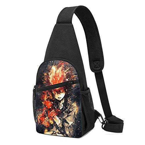 Sawada Chest Pack Exquisite Printed Pattern Shoulder Bag Messenger Bag Chest Bag Suitable For Travel And Hiking Men Women