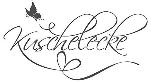 dekodino® Wandtattoo Spruch Schlafzimmer Kuschelecke Dekoration