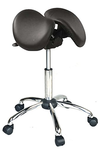 USA Patented Twin Tiltable Saddle Stool with Adjustable Seat Width and Center Gap