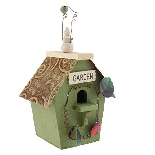 non-brand Sharplace Boîte Nid d'oiseaux Animaux Campagne Nichoirs Maison d'oiseaux - Couleur B