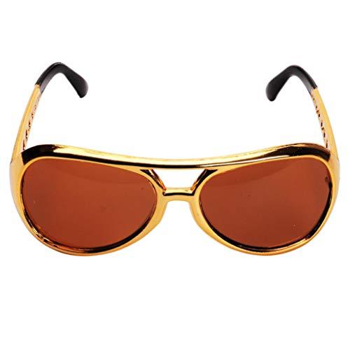 Gafas de Sol de Fiesta de Cromo Brillante 60's Rock Star Classic Eyewear Shades