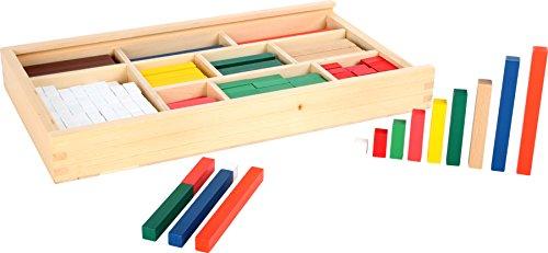 small foot 1136 Rechenstäbchen aus Holz, zum Erlernen des kleinen 1x1, 300 bunte Stäbchen in einer Box, ab 5 Jahre