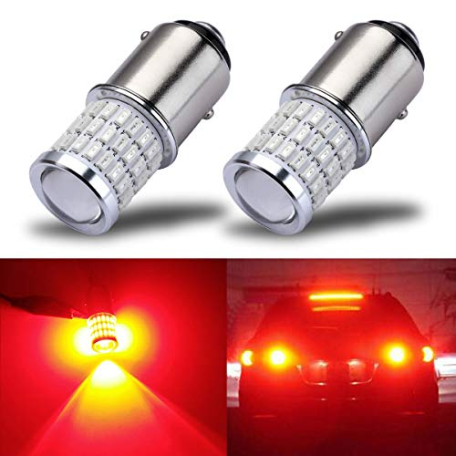iBrightstar Newest 9-30V Super Bright Low Power 1157 2057 2357 7528 BAY15D LED Bulbs with Projector for Tail Brake Lights, Brilliant...
