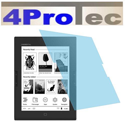 4ProTec I 2 Stück GEHÄRTETE ANTIREFLEX Displayschutzfolie für Energy eReader Pro HD Bildschirmschutzfolie