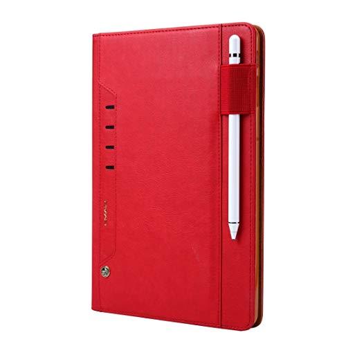 PROTECTIVECOVER+ /ギャラクシータブS4 10.5 / T830 TMALL KAKA LITCHIテクスチャ水平フリップレザーケースホルダー&カードスロット&ペンスロット 、スタイリッシュなスマートフォンの保護ケース (Color : 赤)